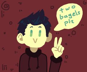 t w o bagels