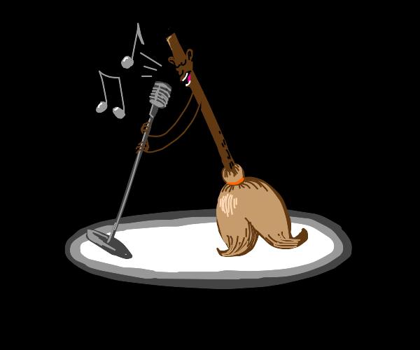Singing broom