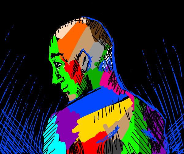 Multi colored man.