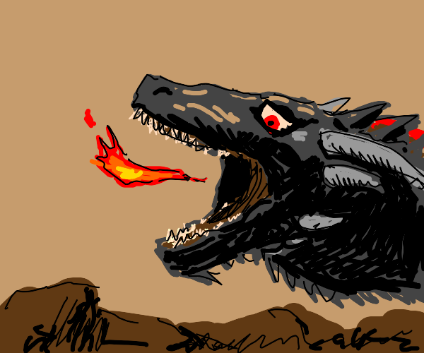 dragon disappointed by his puny fire breathe