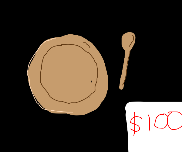 Wooden plate & spoon for $100