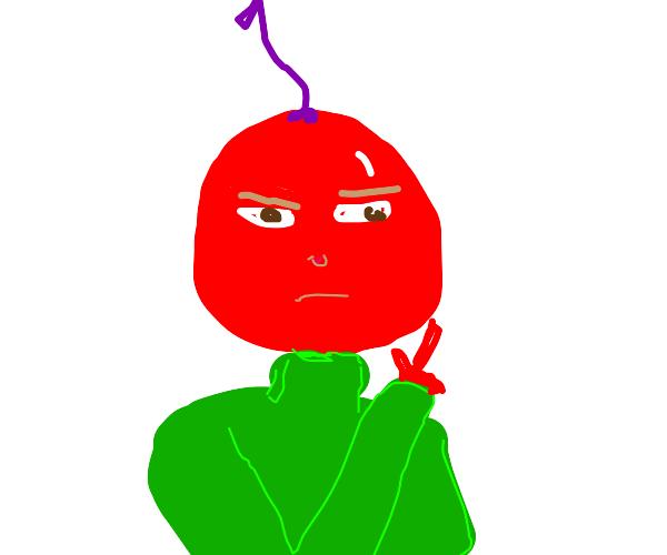 Kakyoin but he's a literal cherry (jjba)