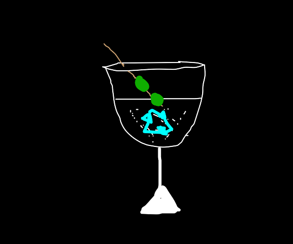 cocktail in recyclable cup
