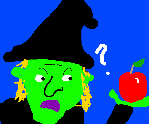 Confused Witch found an Apple
