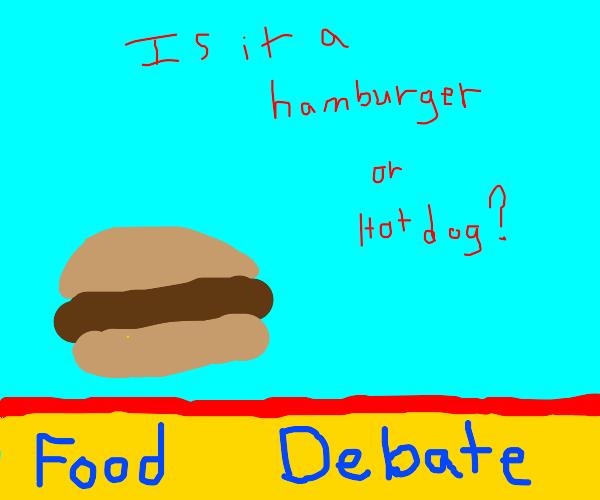 Food debate: Hamburger v Hotdog