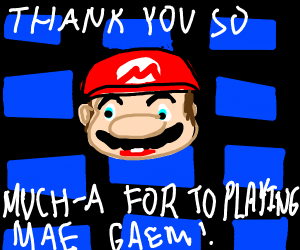 Mario With An Rpg Drawception