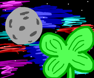 Four leaf clover in space
