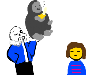 sans offers you a gorilla