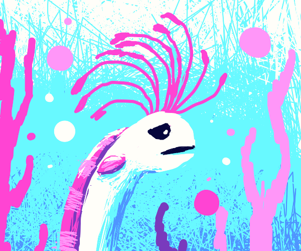 sad pink eel