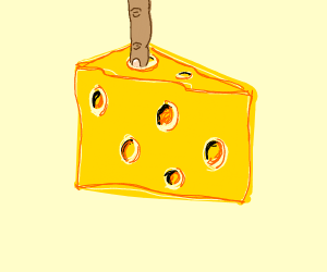 A finger in cheese