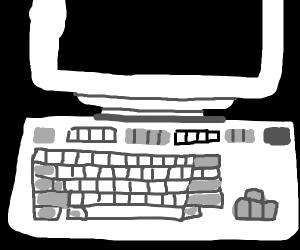 Oldschool computer keyboard