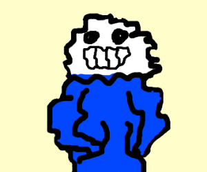 squiggly distorted Sans
