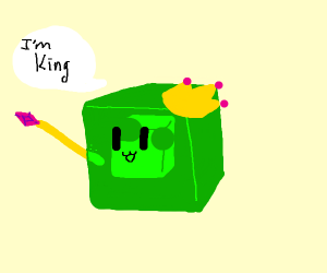Slime Cube Declares Itself as King
