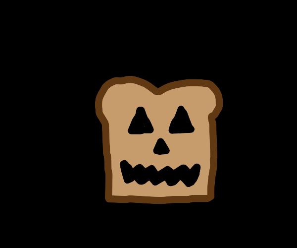 jack-o-lantern, but bread.