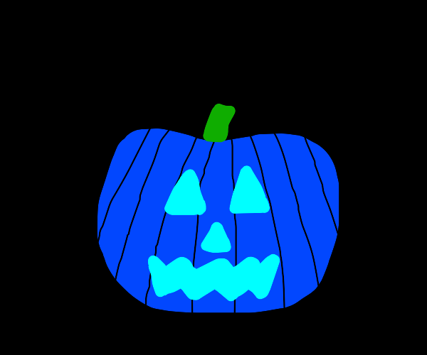 Blue jack-o-lantern