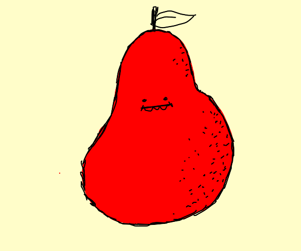 pear with orange skin