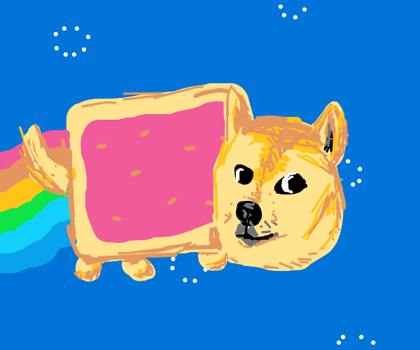 Doge but a Pop-Tart