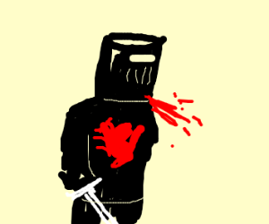 "Black knight ""Tis But A Scratch"""