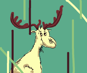 Dr. Seuss-looking moose