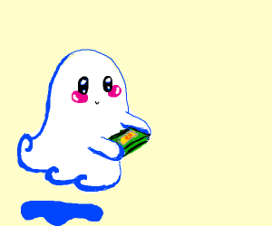 ghost playing a game