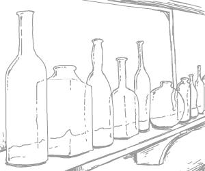 A line of bottles