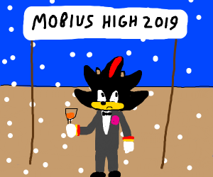 Shadow the Hedgehog goes to prom