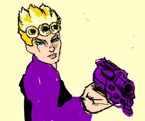 Giorno (JJBA) has acquired a gun