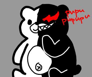 Evil devil panda