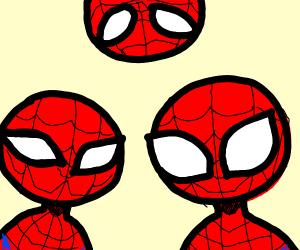three spider mans watching you