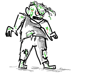 Chubby angry zombie
