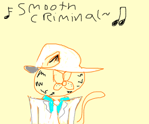 garfield is a smooth criminal