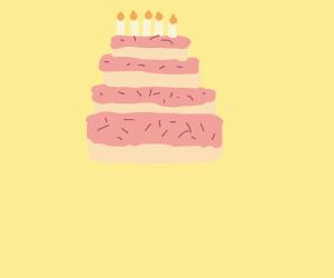 Extraordinarily delicious cake.