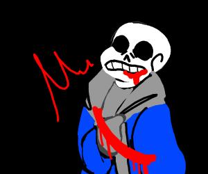 skeleton puking