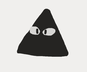 Triangle stares blankly