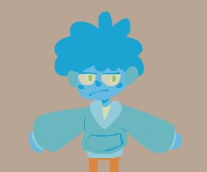 Blue boi :(