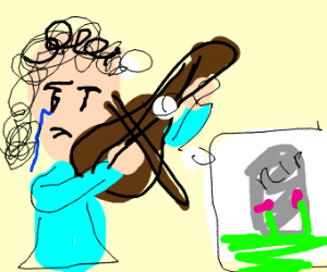 violinist crying for a loss