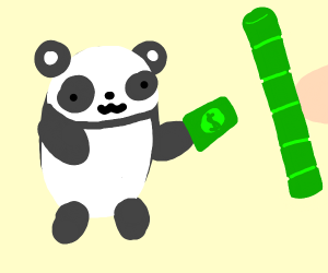 panda buying bamboo
