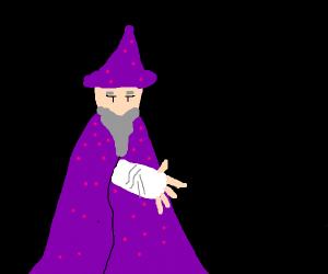 Wizard with a broken arm.