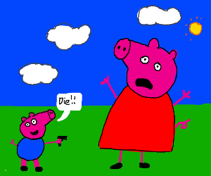 George is about to shot Peppa