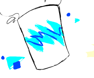 that one 90s aesthetic squiggle milkshake cup