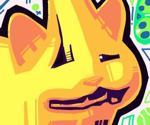 pointy cat