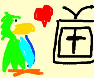Parrot loves Christian Televison