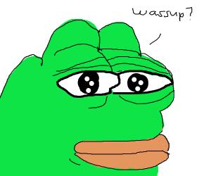 Sad man asks wazzuup
