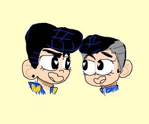 Okuyasu and Josuke being two cute gay bois