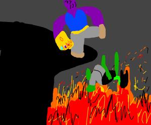 Thanos killing someone