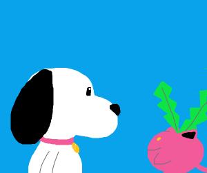 Dog meets Pokemon