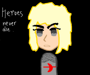 Blond Anime Girl Says (Heroes Never Die!)