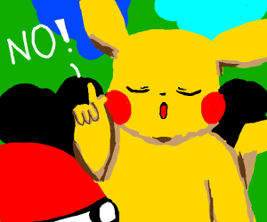 Pikachu rejected the Pokeball!!