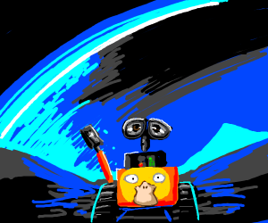 Wall-E but psyduck