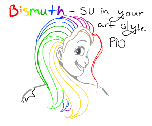bismuth (SU) in your art style pio